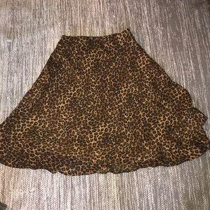 Animal Print George flounce Skirt